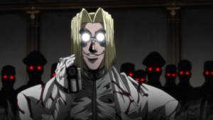 The glowing eye thing in Hellsing, is always so spooky