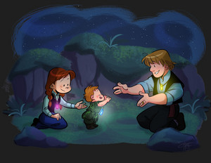 Anna, Kristoff and with their baby