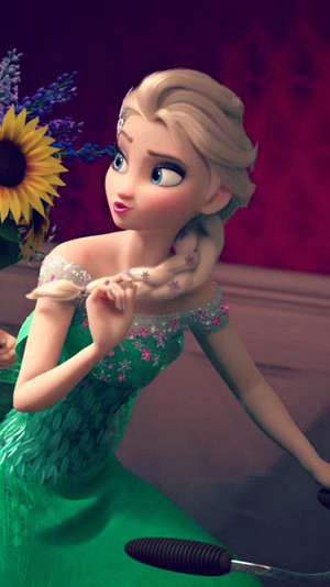 Frozen Fever Elsa Phone Wallpaper
