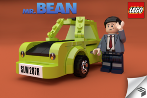Lego Mr bean: transform this project in a real lego set door voting for it