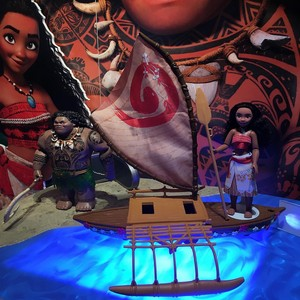 Moana dolls and playset
