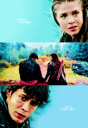 Octavia and Bellamy