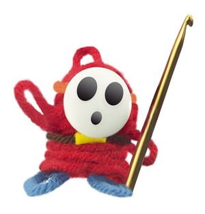 Shy Guy - Yoshi's Woolly World