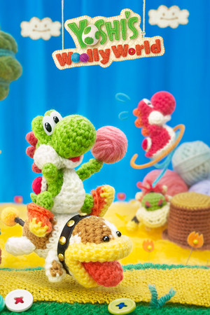 Yoshi's Woolly World Mobile 壁紙