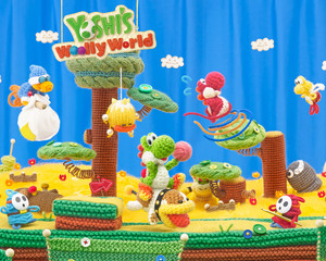 Yoshi's Woolly World Wallpaper