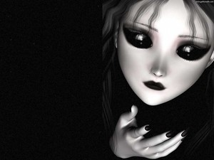 dark doll girl