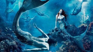 Blue mermaids and mermen