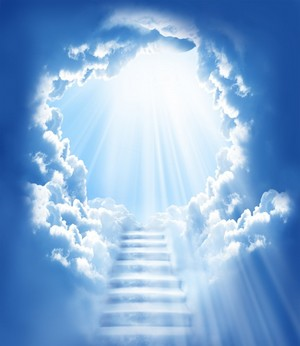 Blue stairway to the heavens