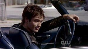 Damon Salvatore in his car
