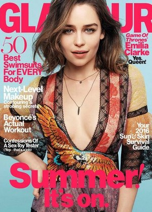 Emilia Clarke Cover in Glamour Photoshot