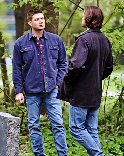 Jensen and Jared On The Set Of Supernatural