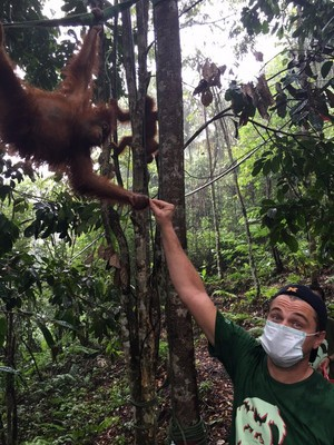 Leo in Indonesia for environmental work