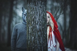 Little red riding hood and the wolf