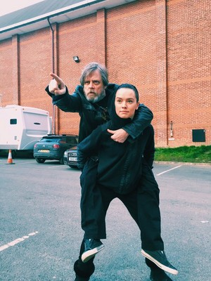 Mark Hamill and madeliefje, daisy Ridley