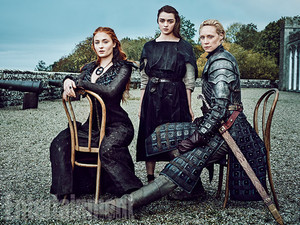 Sansa Stark, Arya Stark and Brienne of Tarth