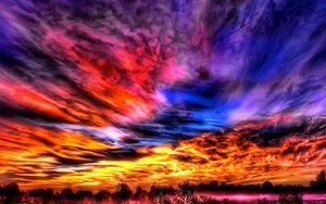 Colorful skies