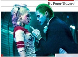 Harley Quinn and The Joker in Rolling Stone Magazine