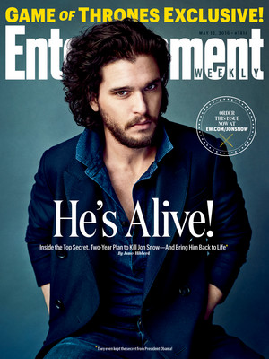 Kit Harington on the cover of Entertainment Weekly
