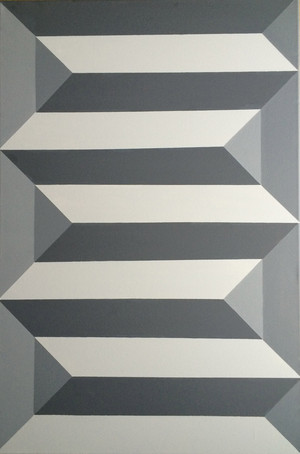 Original Geometric Canvas Painting by Dominic Joyce 1