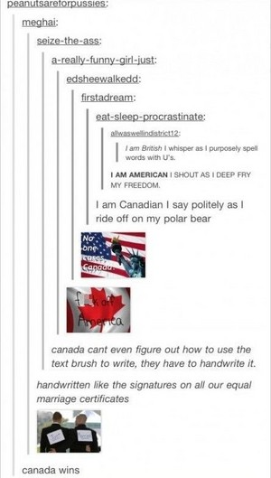 canada finally wins tumblr