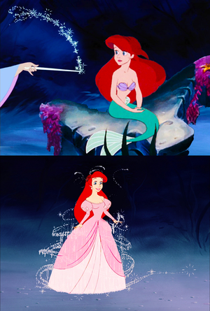 If Fairy Godmother helped Ariel to be human...