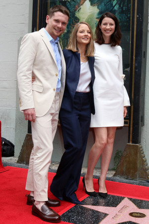 Jack O'Connell and Caitriona Balfe at Jodie Foster s Walk of Fame Ceremony