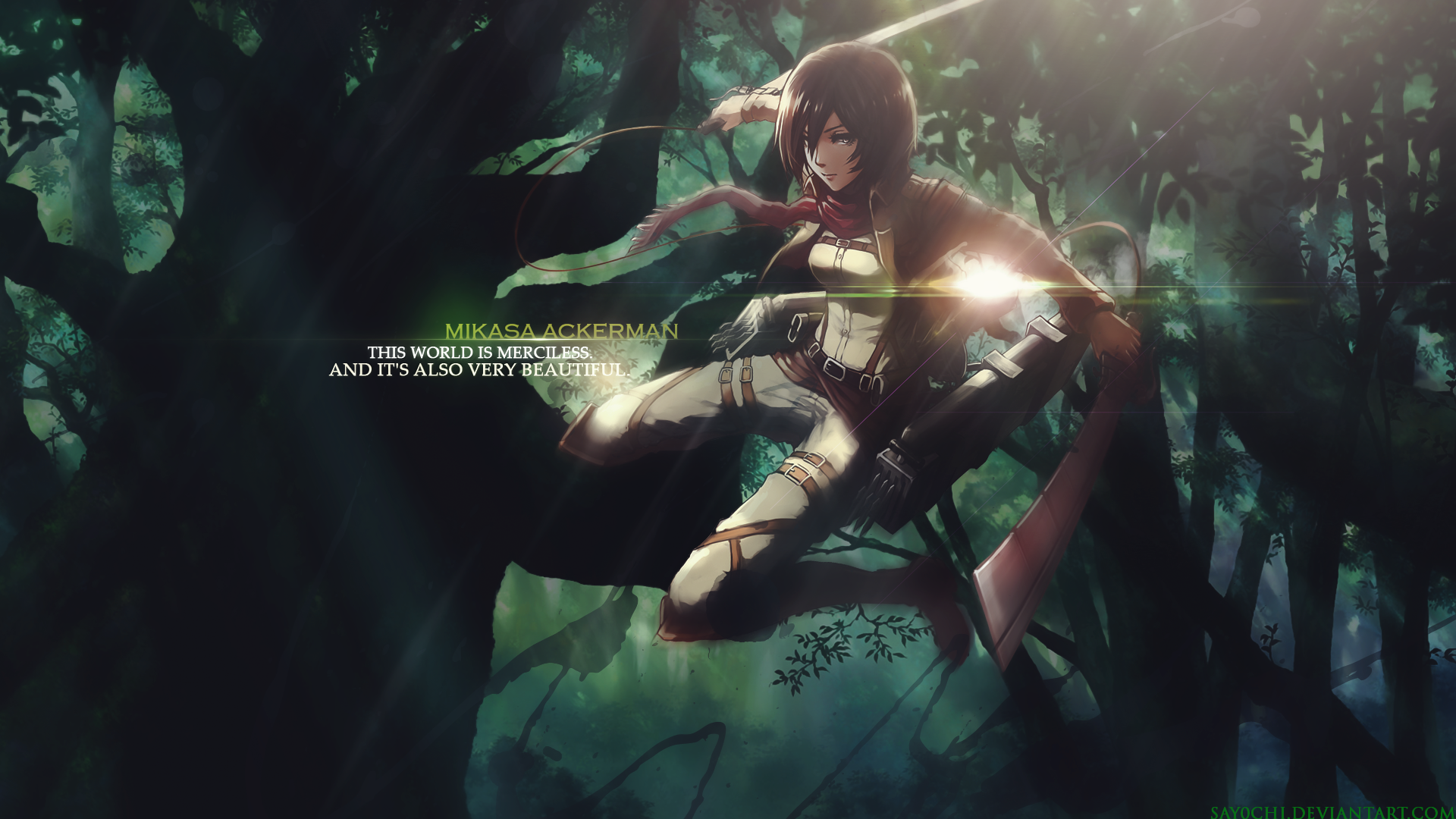 Mikasa Ackerman Shingeki No Kyojin Attack On Titan Wallpaper