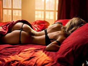 Sleeping in lingerie
