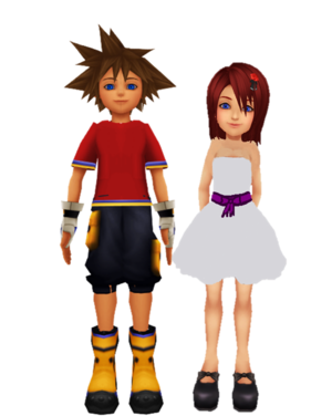 Sora Crush on Kairi KH1 Sunset Date Dream...