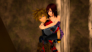 Sora and Kairi Having Fun Taking Rest .