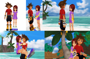 Sora and Kairi KH1 Outfits Romances Couples