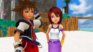 Sora and Kairi KH1 Sweet Couple mmd...