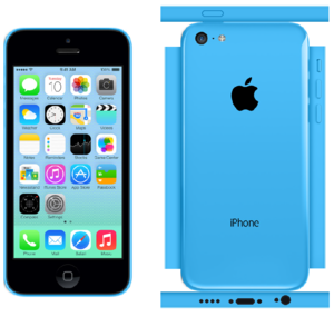 iPhone 5c Papercraft Blue