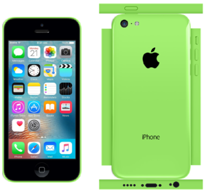 iPhone 5c Papercraft Green (iOS 9)