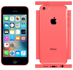 iPhone 5c Papercraft berwarna merah muda, merah muda (iOS 9)