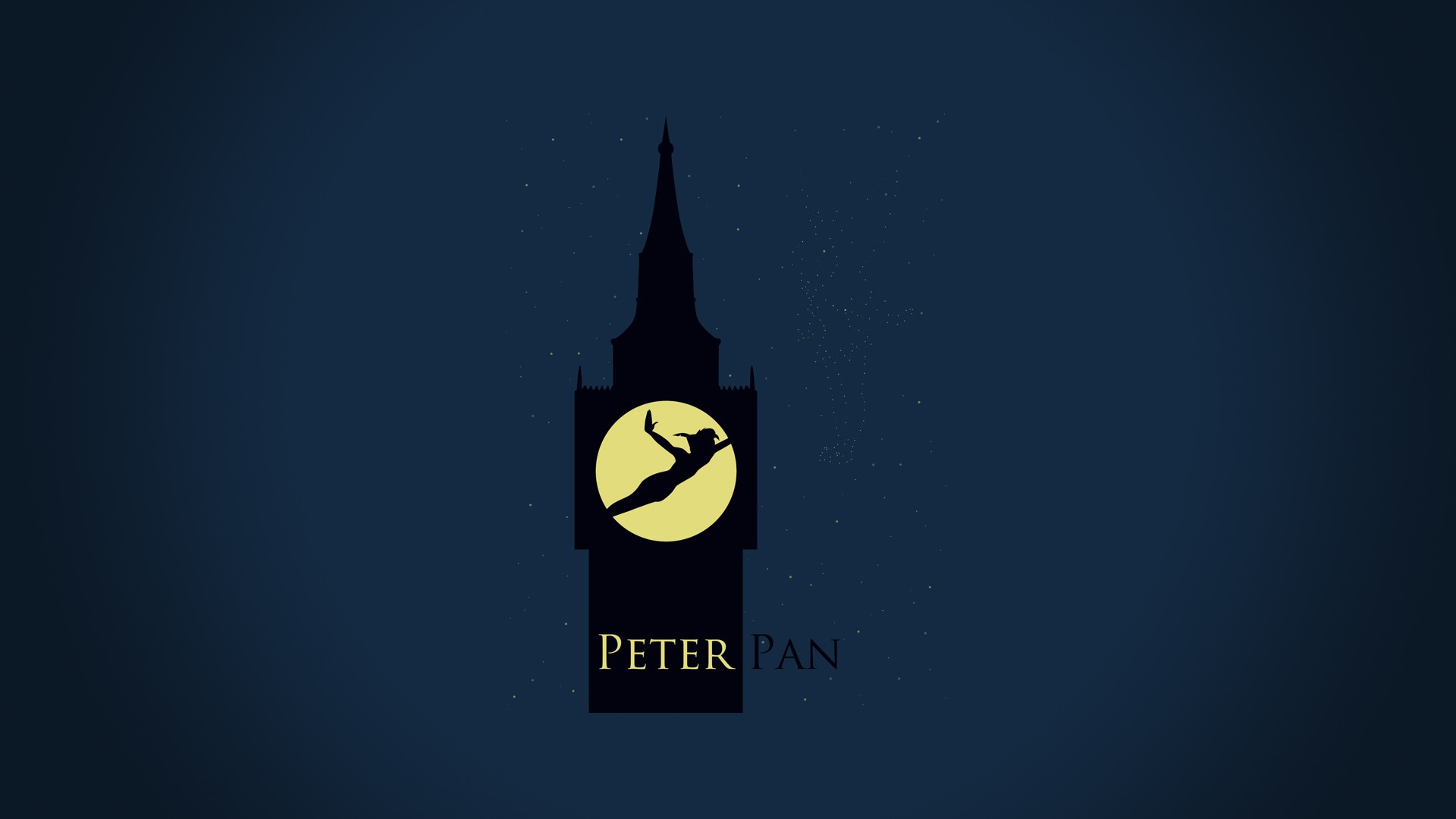 minimalistic peter pan clocktower