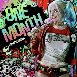 "'Suicide Squad' ""One Month"" Harley Quinn Poster"