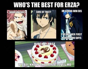 Cake is best for Erza