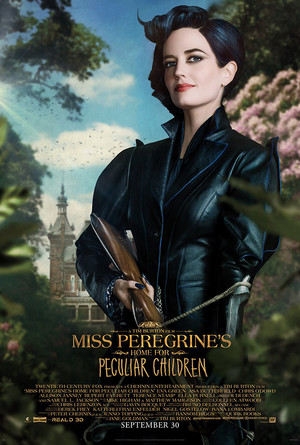 Eva Green as MissPeregrine in Miss Peregrine's accueil For Particupar Children Poster