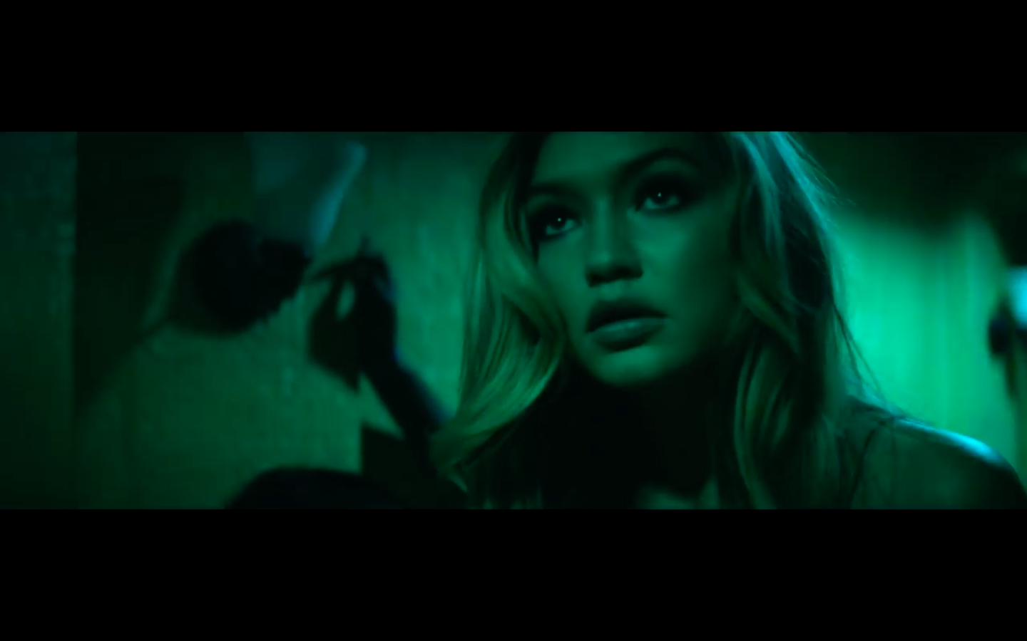 Gigi in Calvin Harris' How Deep Is Your Love Music Video