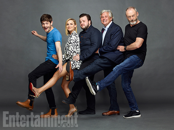 Iwan Rheon, Faye Marsay, John Bradley, Conleth Hill, and Liam Cunningham