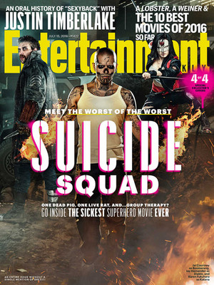 Suicide Squad - Entertainment Weekly Cover - July 15, 2016 - Boomerang, Diablo, Katana