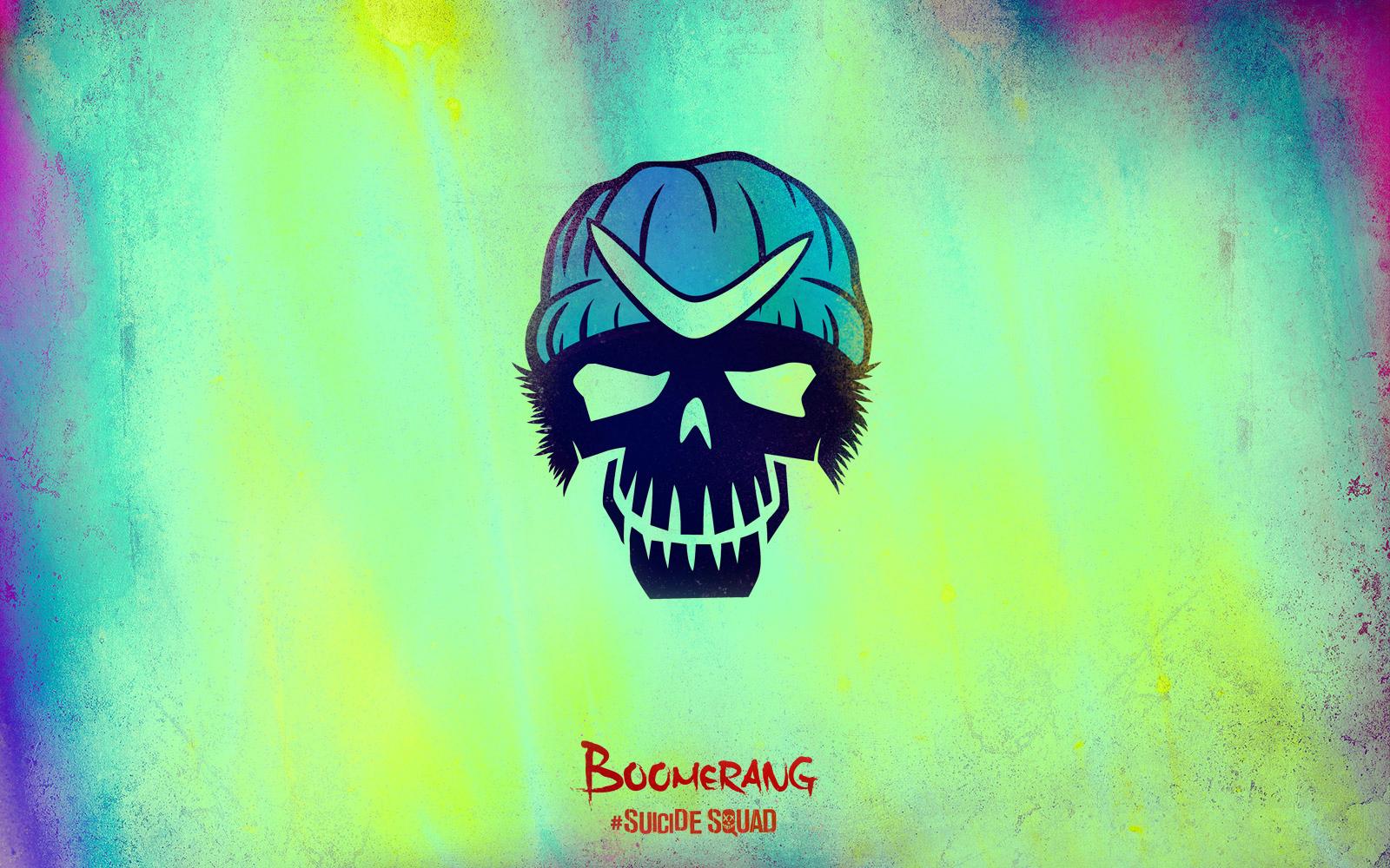 Suicide Squad Skull 壁紙 Boomerang Suicide Squad 壁紙