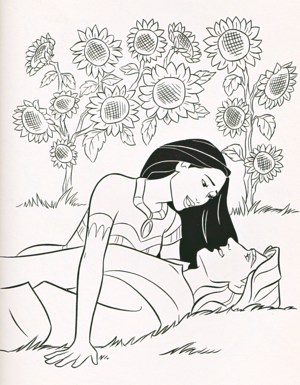 Walt Disney Coloring Pages - Captain John Smith & Pocahontas