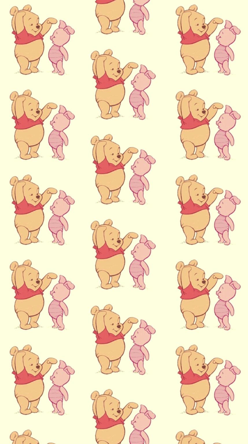 Wallpaper winnie the pooh pink