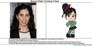 Wreck-It Ralph 2 Casting of Ideas: Sarah Silverman
