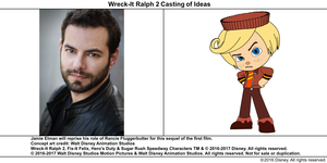 Wreck-It Ralph 2 Casting of Ideas: Jamie Elman