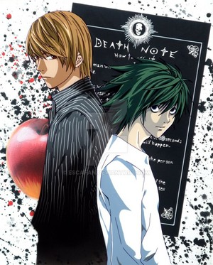 death note light and L fancel par escafan d6rfz5u
