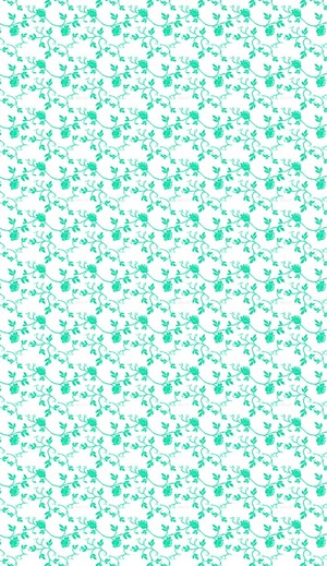 teal and white floral kertas dinding