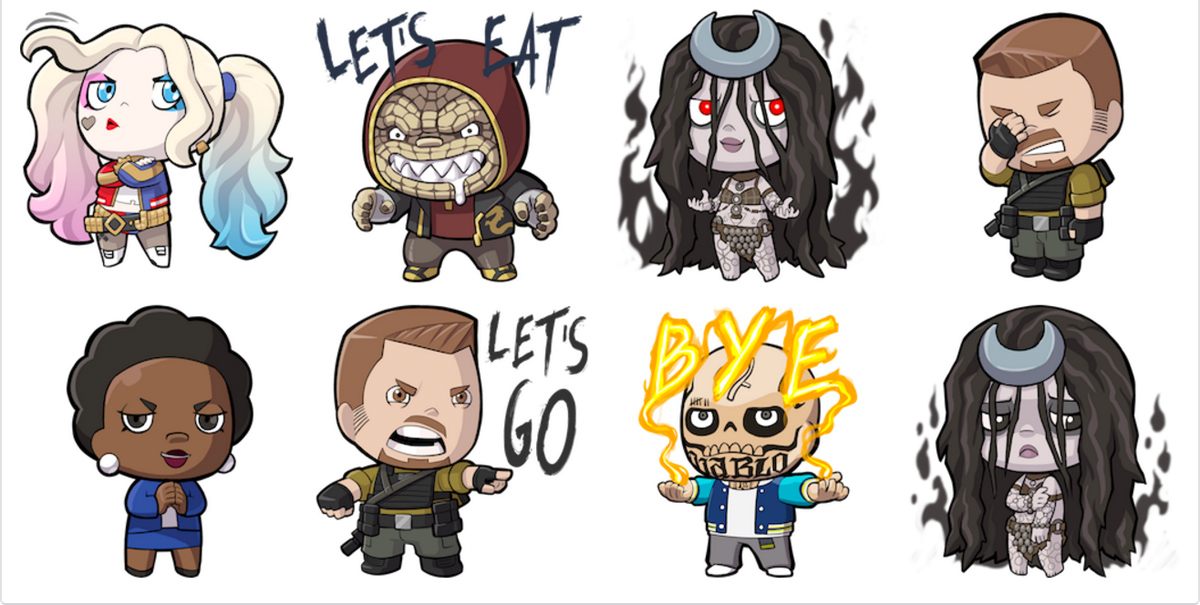 'Suicide Squad' Facebook Stickers